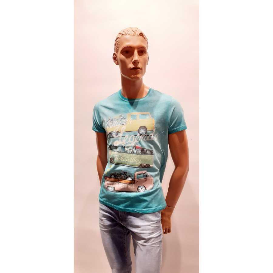 T-shirt Take-A-Way Legend Turquois Mannen Quasimodo Roeselare