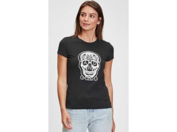 T-SHIRT BLACKandGOLD CORION BLACK Tops & t-shirts Quasimodo Roeselare