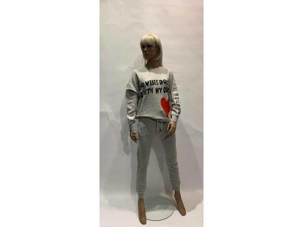 SWEATER GRACE 423/2221 LIGHT GREY Sweaters Quasimodo Roeselare