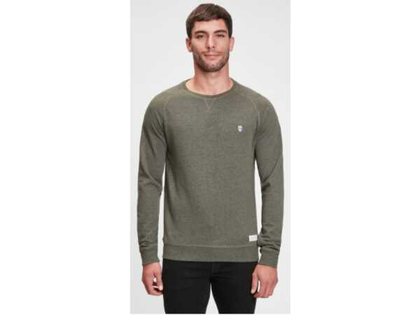 SWEATER BLACK AND GOLD RAGLOS FOREST NIGHT Mannen Quasimodo Roeselare