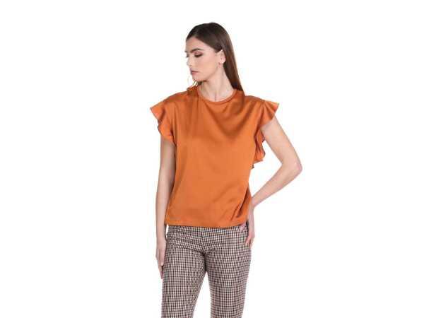T-SHIRT RELISH KEWIND APRICOT ORANGE Tops & t-shirts Quasimodo Roeselare
